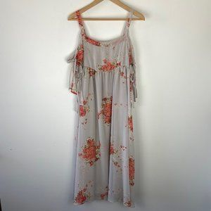 FREE PEOPLE cold shoulder boho flowy maxi small